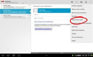 pantallazo marcar spam