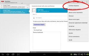 Cambiar etiquetas de gmail