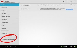 pantallazo seleccion etiqueta gmail