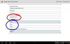 configurar servidor pop terra