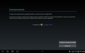 pantallazo configuracion Google Wallet