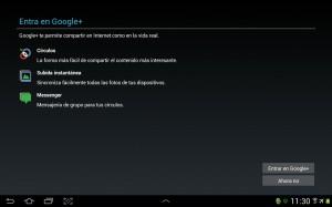 pantallazo configuracion google