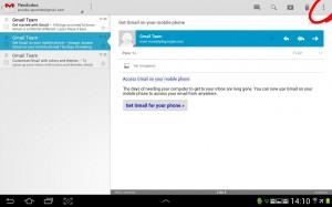 pantallazo menu correo